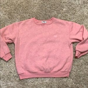 Acne Studios Pink Crew Sweater Pullover Heathered